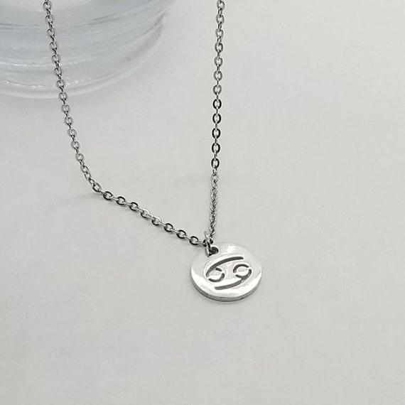Cancer Zodiac Necklace Cancer Necklace Cancer Symbol Etsy
