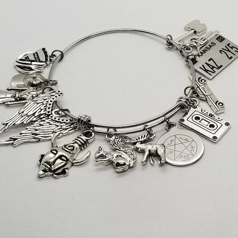 7e5516c8d85219 Supernatural Bracelet Supernatural Charm Bracelet | Etsy