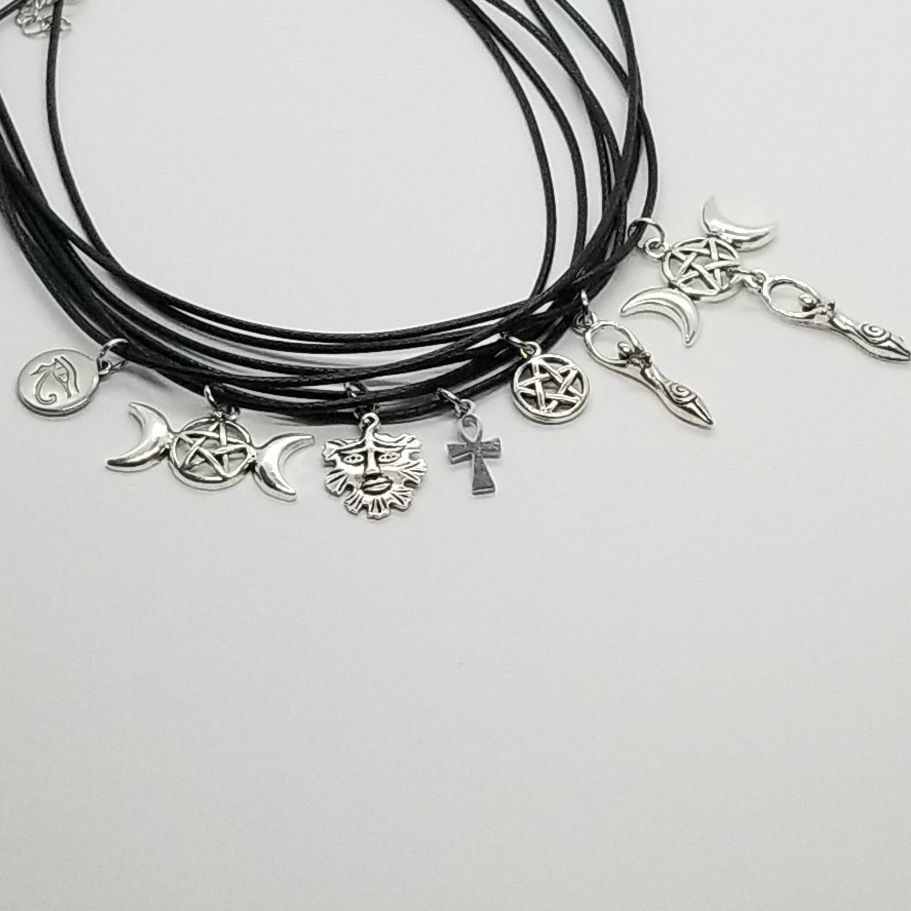 Wiccan Necklace Pagan Necklace Wicca Jewelry Pagan Jewelry