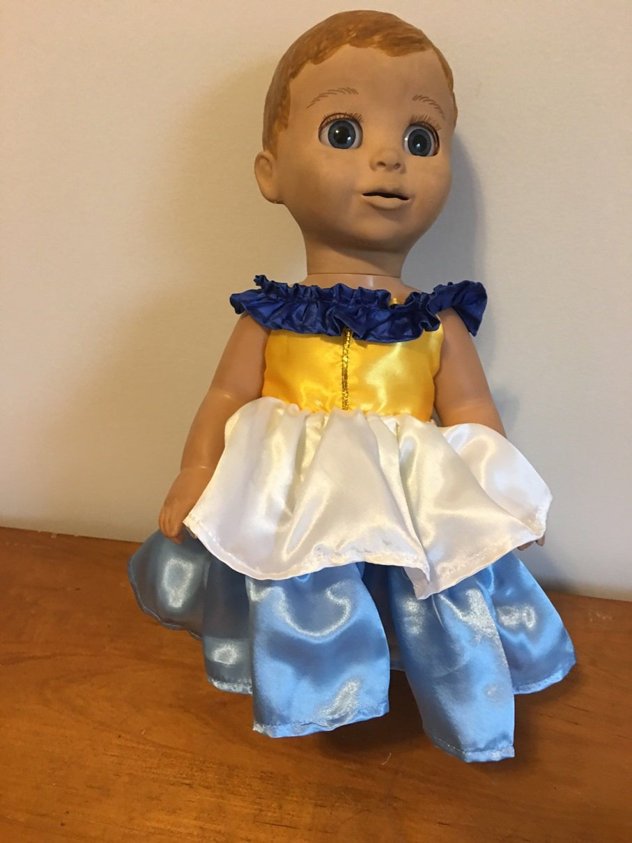 793b2e9f1a92 Fits Luvabella Doll Clothes Party Dress Blue White Fairy or   Etsy
