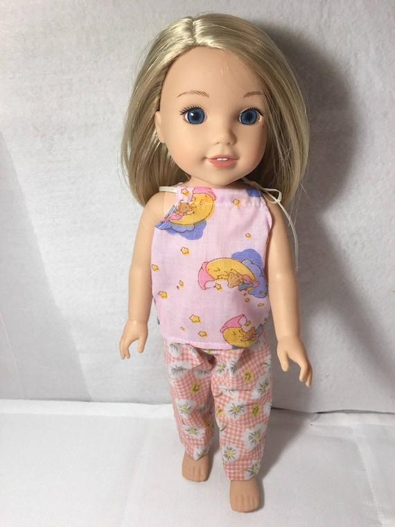 "Late Night Luau Pajama Pant Set Fits Wellie Wishers 14.5/"" American Girl Clothes"