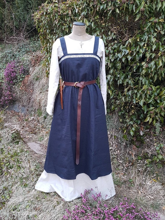 Viking Linen Dress S - M, Medieval Underdress, Cosplay, LARP, Toraxacum