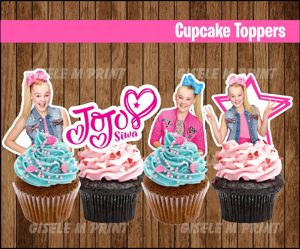 JoJo Siwa cupcakes toppers Printable JoJo Siwa toppers ...