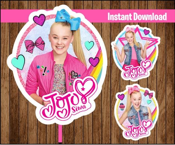JoJo Siwa centerpieces, JoJo Siwa Printable centerpieces, JoJo Siwa party centerpieces Instant download