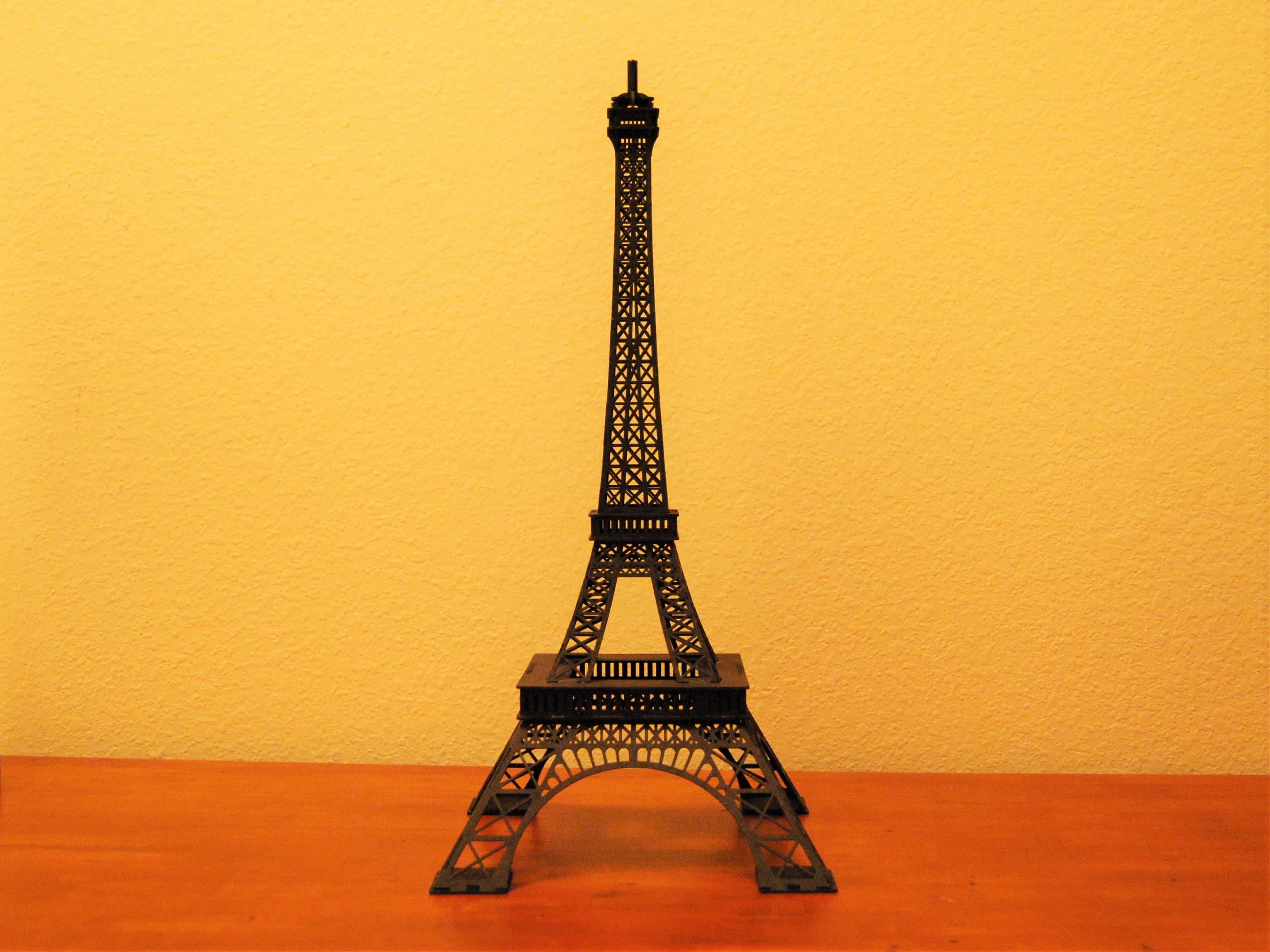 Eiffel Tower Replica Centerpiece 15 Inch Tall Black | Etsy