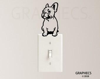 Int15-switch plug puppy Decorative vinyl sticker personalised