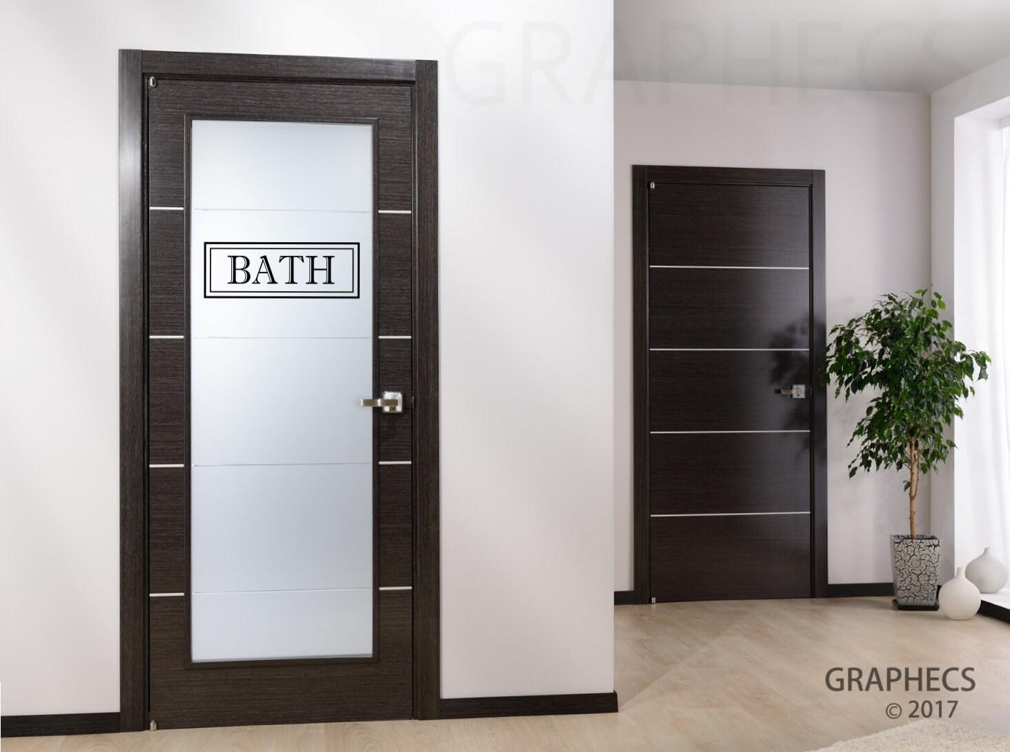 Bath Vinyl Decal Door Frame Sticker Glass Door Luxurious Etsy