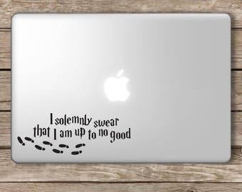 I Solemnly Swear HP Decal Vinyl Sticker Apple Laptop MacBook