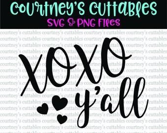 XOXO Y'all svg/ Valentine SVG/ Valentine Quote svg/png /February 14 svg