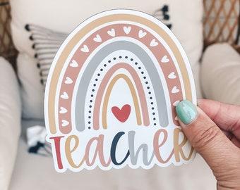 Teacher Magnet | Cute Fridge Magnet | Car Magnet | Back To School Teacher Gift | Boho Rainbow Magnet