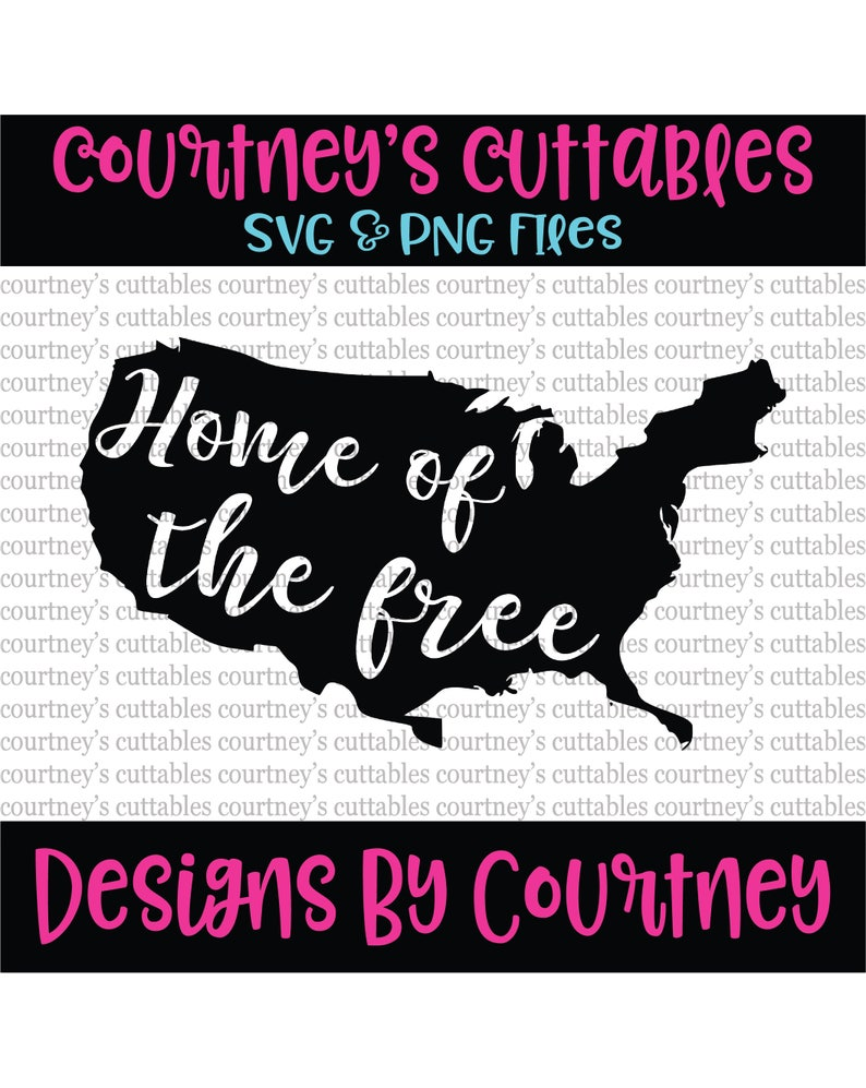 Home Of The Free Svg Home Of The Free Because Of The Brave Etsy