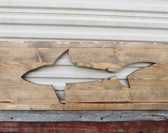 Handmade Wood Shark Wall Decor
