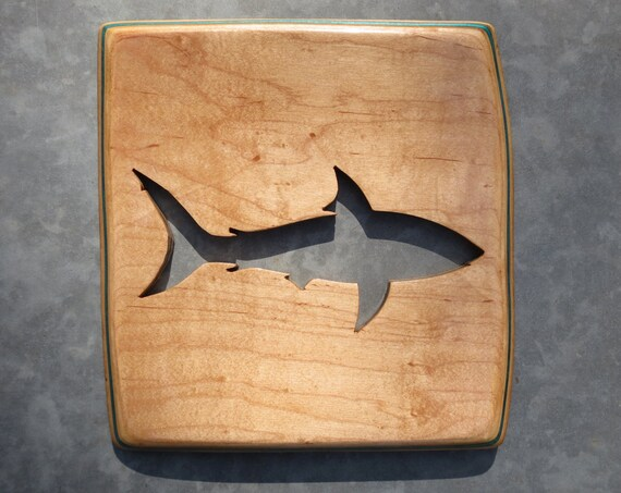 Recycled Skateboard Deck Shark Cutout / Custom Wall Art / Beach Home Decor