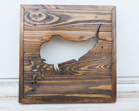 Handmade Wood Mahi Wall Decor