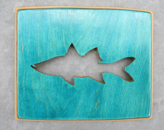 Recycled Skateboard Deck Fish Cutout / Custom Wall Art / Beach Home Decor / Fishing / Wood Fish Cutout