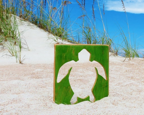 Handmade Recycled Skateboard Sea Turtle Wall Decor
