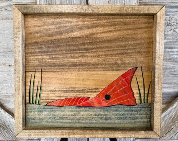 Redfish Wall Decor Handmade From Recycled Skateboards