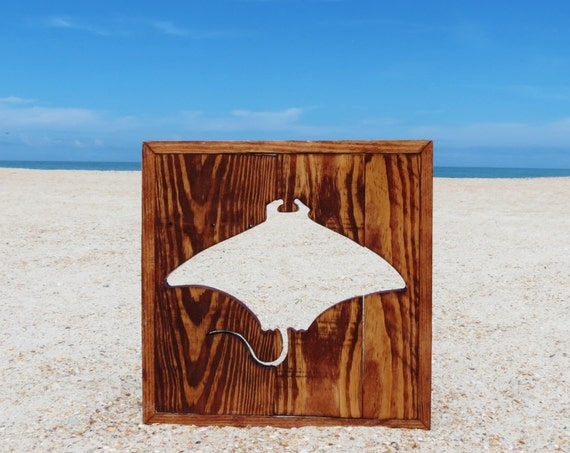 Handmade Wood Mantaray Wall Decor