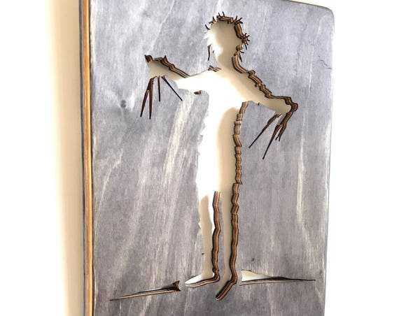 Handmade Recycled Skateboard Edward Scissorhands Wall Decor
