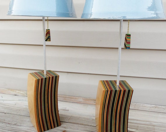 Handmade Lamp From Recycled Skateboards