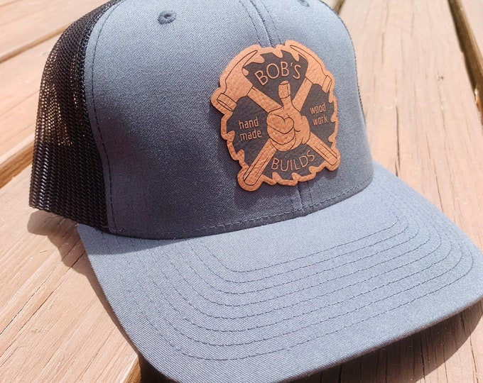Bob\u2019s Builds Leather-Patch Trucker Hat