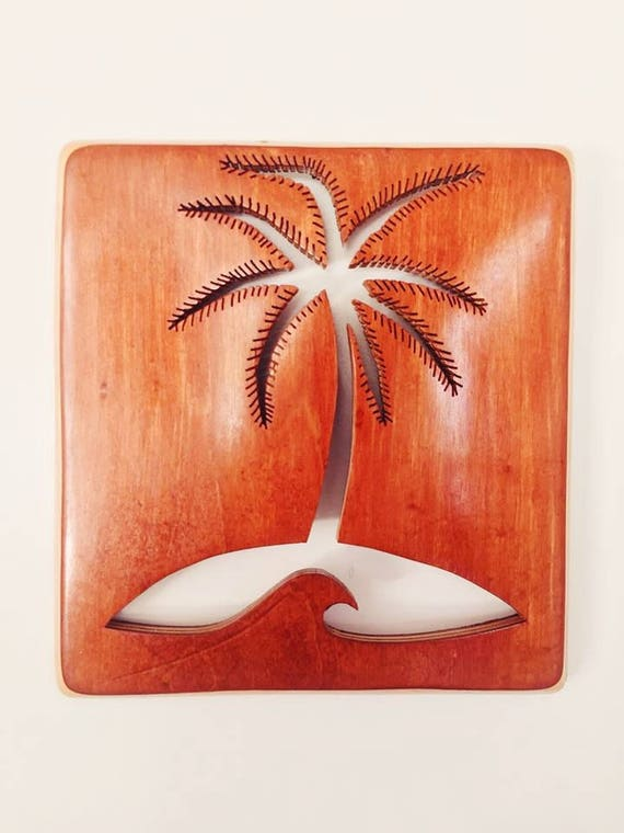 Handmade Recycled Skateboard Palm Tree Wall Decor