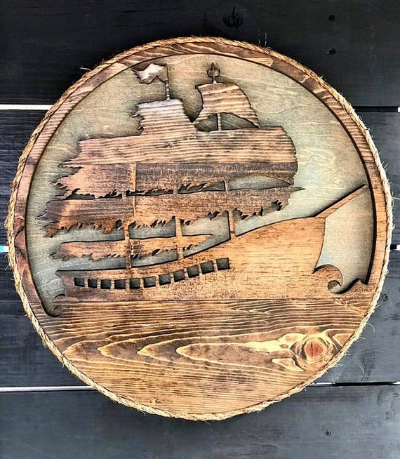 Handmade Pirate Ship Wall Decor