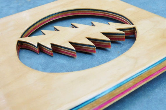 Lightning Bolt Wall Decor Handmade from Recycled Skateboards