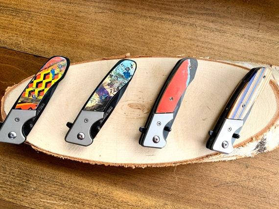 Recycled Skateboard Pocket Knives