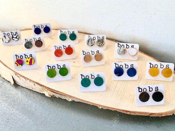 Recycled Skateboard Earrings - Handmade