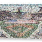 Unique Atlanta Braves Baseball Mosaic Art of SunTrust Park from 295 Braves Player Card Images! Great Gift in Canvas or Print. Free Shipping.