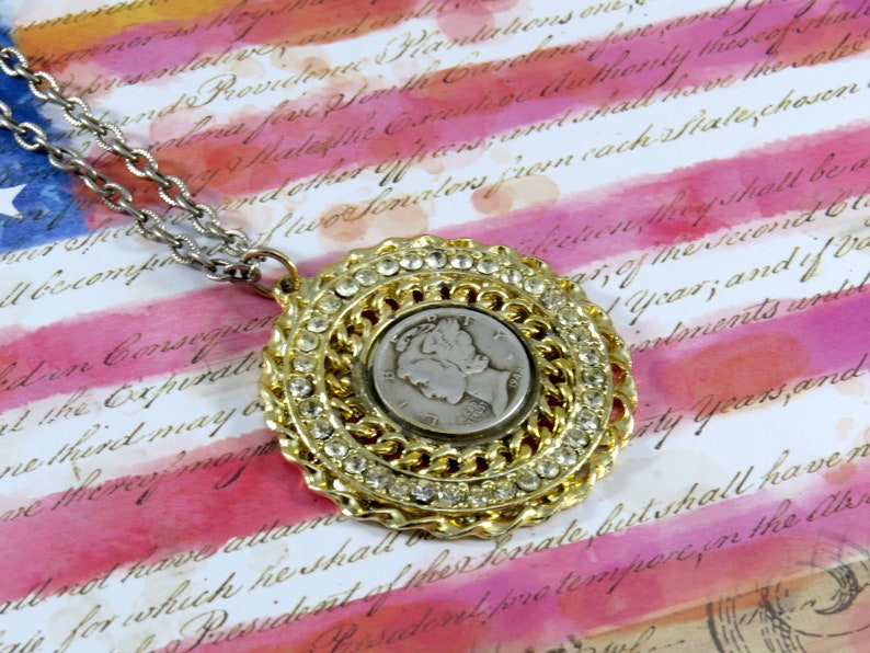 Liberty Near Me >> 1942 In God We Trust Necklace Liberty Coin Necklace Near Me Strass Gift Vintage Jewelry Coin Pendant Gift For Her