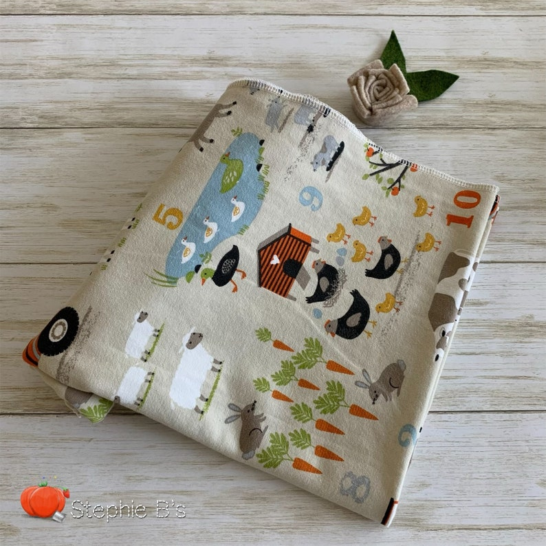 Baby Swaddle Farm Blanket Baby Blanket Going Home Gift Farm Swaddle