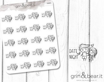 Date Night Sketchy Planner Stickers (SS003)