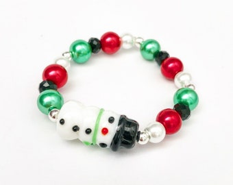 eab848b1c26 Frosty the Snowman Stacker - Snowman Bracelet - Girls Bracelets - Girls  Jewelry
