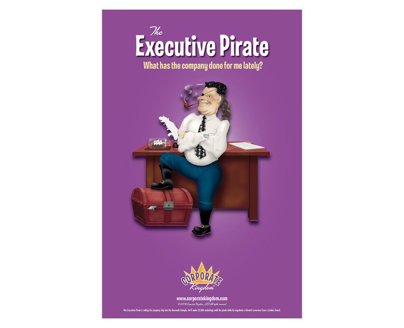 Excutive Pirate Poster by Corporate Kingdom® image 0