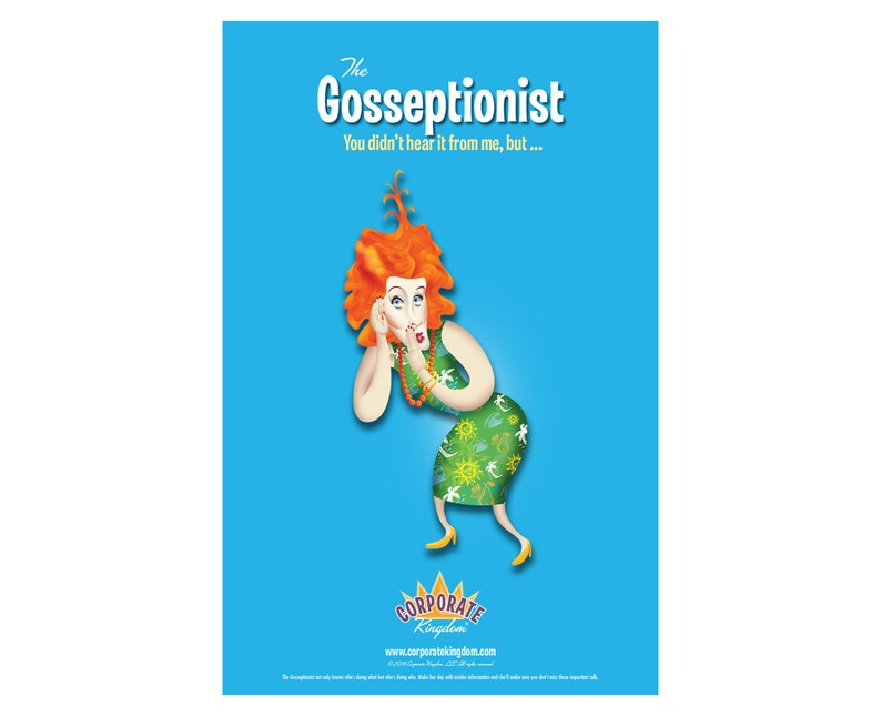 Gosseptionist Poster by Corporate Kingdom® image 0