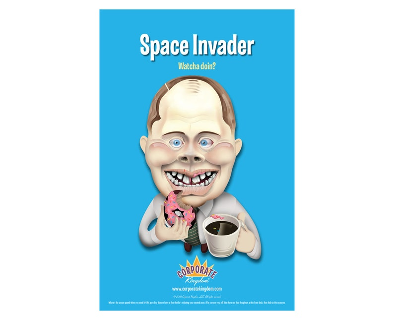 Space Invader Poster by Corporate Kingdom® image 0