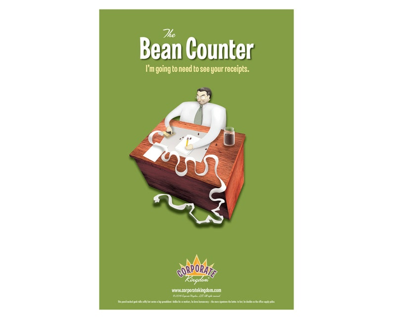 Bean Counter Poster by Corporate Kingdom® image 0