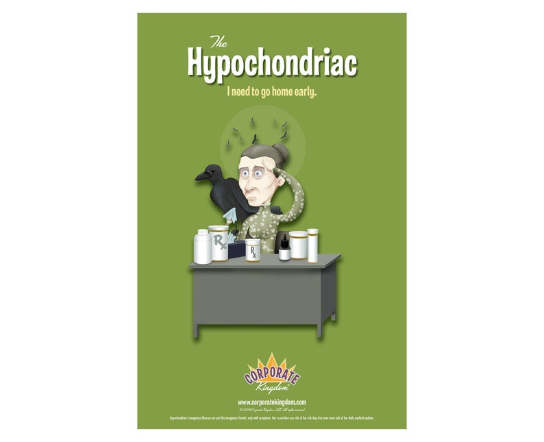 Hypochondriac Poster by Corporate Kingdom® image 0