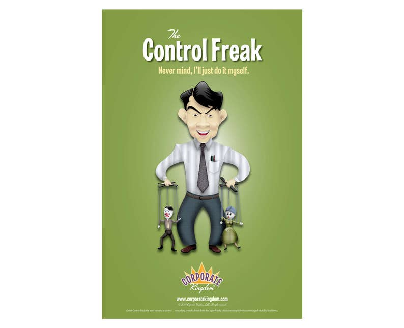 Control Freak Poster by Corporate Kingdom® image 0