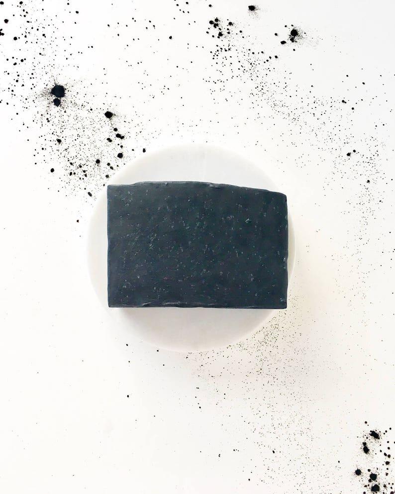 Charcoal & Tea Tree Facial Soap  natural vegan handmade bar image 0