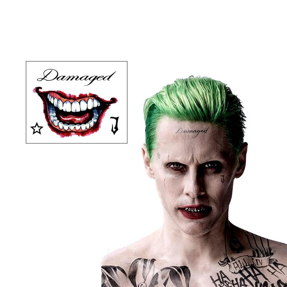 Suicide Squad Joker Mr J Face Hand Temporary Tattoos Etsy