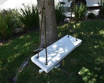 Wooden Tree Swing, perfect for that Oak Tree, kids, backyards, tree swings