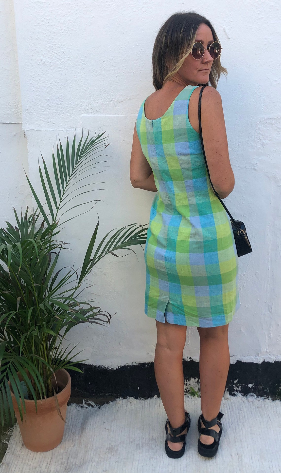 Vintage Laura Ashley Check Gingham Dress image 0