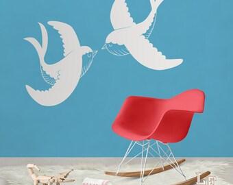 Stickers bird wall art