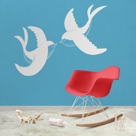Admirable Stickers Bird Wall Art Theyellowbook Wood Chair Design Ideas Theyellowbookinfo