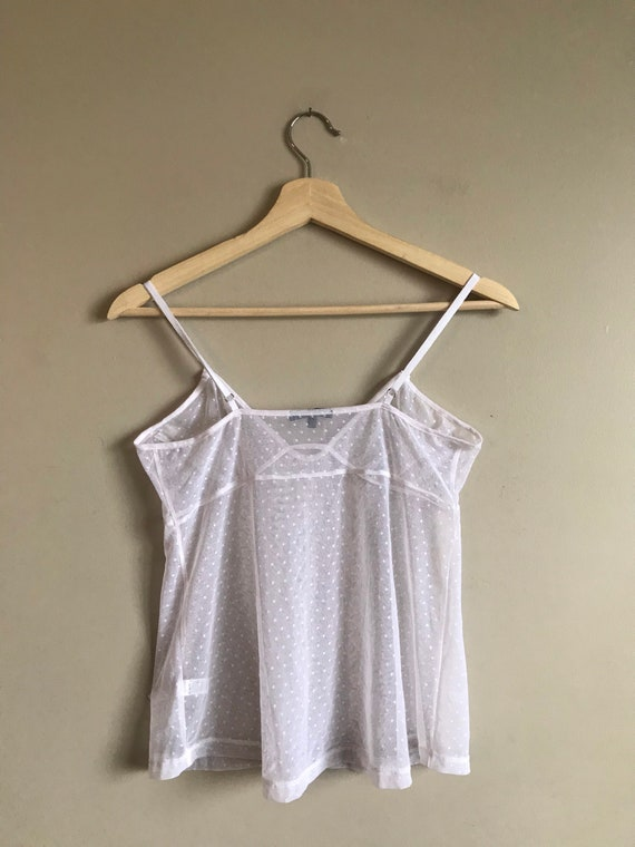 Vintage Lace Sheer Camisole Top - image 6