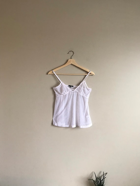 Vintage Lace Sheer Camisole Top - image 1