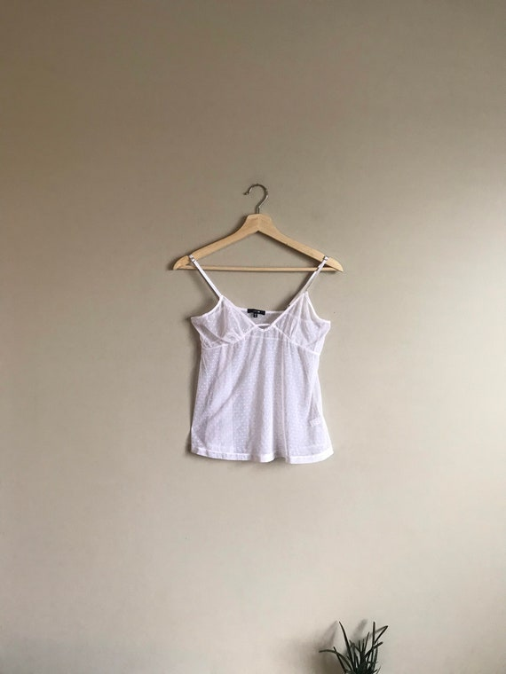 Vintage Lace Sheer Camisole Top